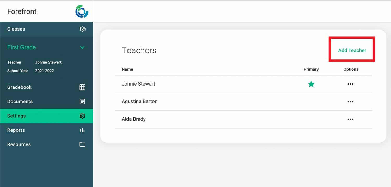 add teacher
