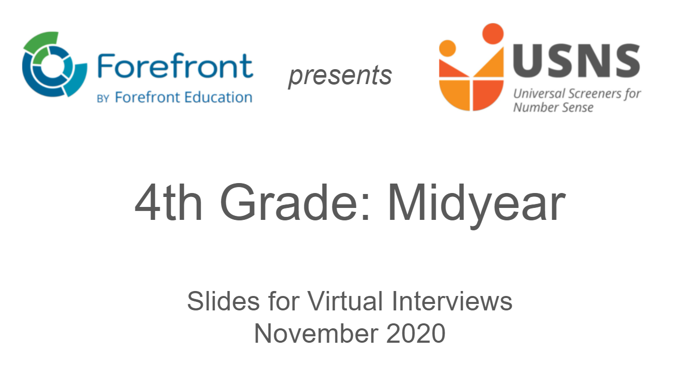 fourth grade midyear screener virtual slides
