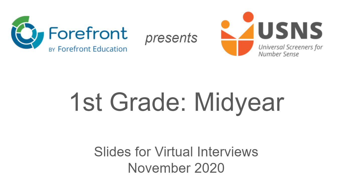 first grade midyear screener virtual slides
