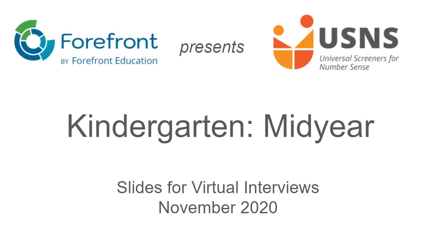 kindergarten midyear screener virtual slides