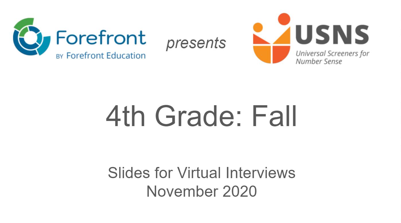 fourth grade fall screener virtual slides