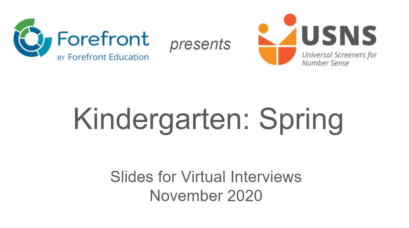 kindergarten spring screener virtual slides