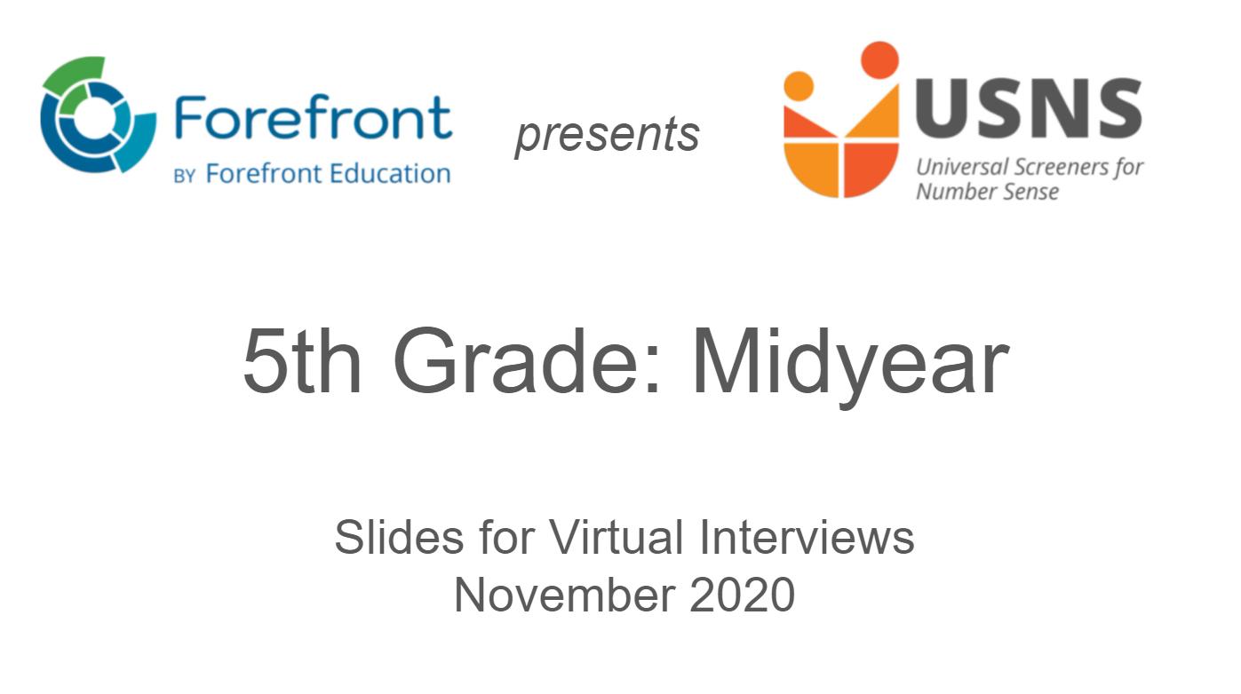 fifth grade midyear screener virtual slides