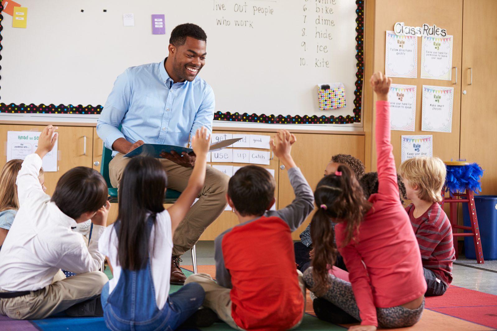 Teacher Collecting Assessment Data